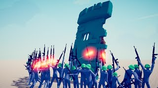 MASSIVE WALL vs MODERN WEAPONS - Totally Accurate Battle Simulator TABS