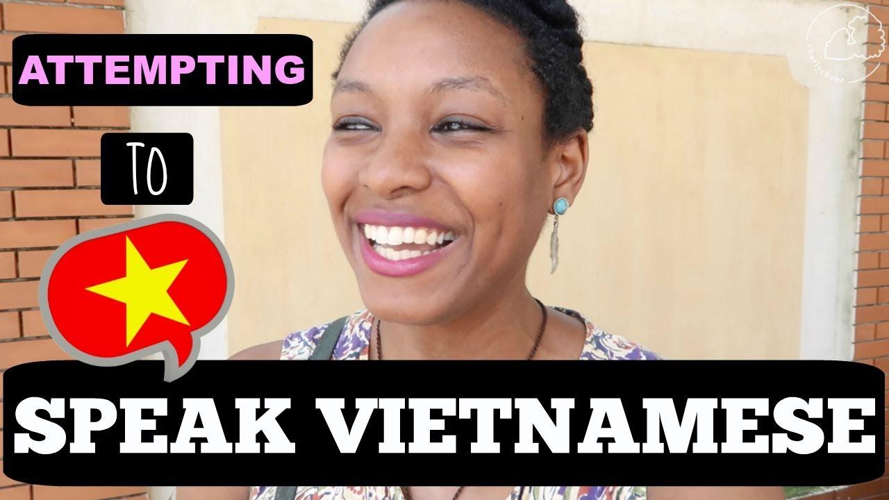 BLACK AMERICAN ATTEMPTS TO SPEAK VIETNAMESE...KEYWORD: ATTEMPTS | charlycheer