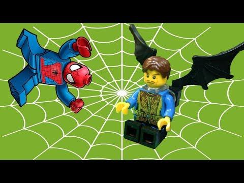 'Пальцы и ногти'. Человек паук и оборотень, 2 серия. Лего мультик - анимация  2018
