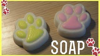Мыло в форме кошачьей лапки своими руками ♡