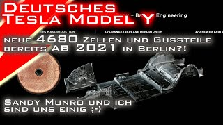 Kommen die neuen 4680 Zellen von Tesla schon ab 2021 ins Berliner Model Y? Ich denke ja!