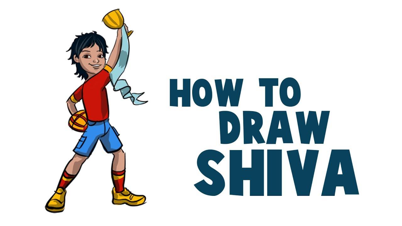 How To Draw Shiva Cartoon In Krita | Drawing And Coloring Shiva In Krita |