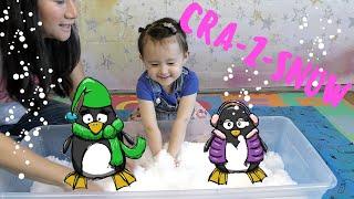 Kimiko plays with Cra-Z-Snow...