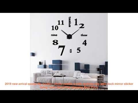 2019 new arrival quartz diy modern clocks needle acrylic watches big w