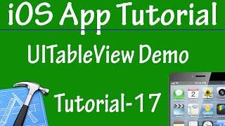 Free iPhone iPad Application Development Tutorial 17 - UITableView Demo in iOS App