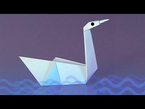Un cygne en papier comment faire origami youtube - Comment fabriquer une coupe du monde en papier ...