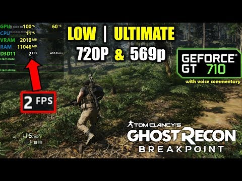 GT 710 | Ghost Recon: Breakpoint - Low & Max Settings |