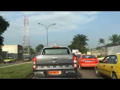 Driving in Abidjan Time - lapse