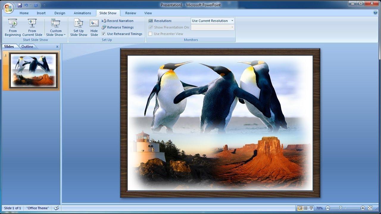 Tutorial Powerpoint 2007 Cara Menggabungkan Tiga Foto Di Powerpoint Youtube