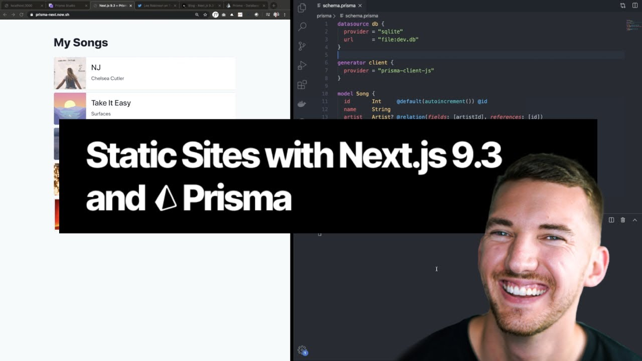Static Sites with Next.js 9.3 and Prisma