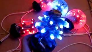 WS2811+ arduino большие новогодние RGB шары