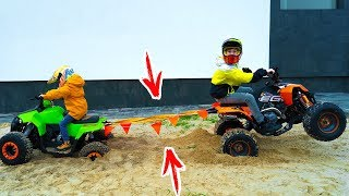 Кто КОГО???Тиша ПРОТИВ ДАНИ. Big ATV vs Little ATV.