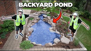 BUILDING A BACKYARD POND!! ... (parents didn't know)