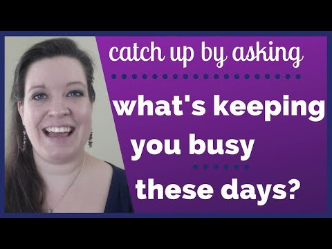 What's keeping you busy these days? [Conversations with Kim, Episode 6]