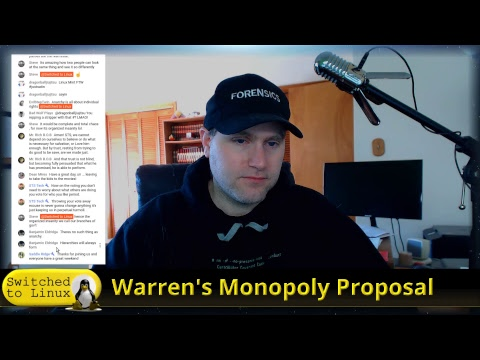 Warren's Monopoly Plan for Big Tech - Good or Bad? and Channel Update