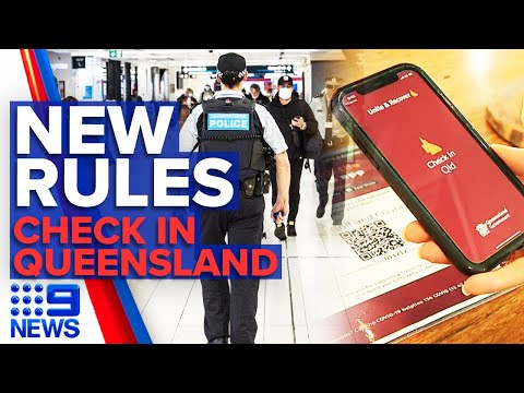 Coronavirus: Mandatory COVID-19 check-in app use in Queensland   9 News Australia