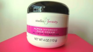Review: Studio 35 Beauty Alpha Hydroxy Face Cream - HOLY GRAIL!