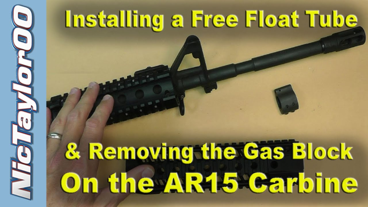 Ar15 A2 Front Sight Gas Block Removal For A Free Float Tube