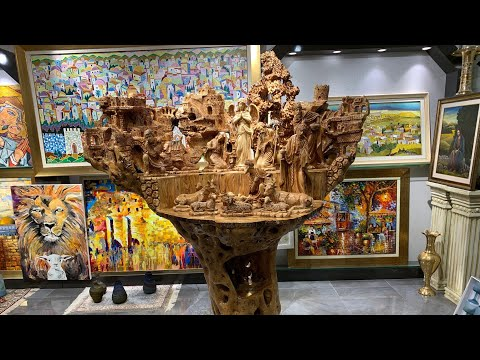 Olive Wood Factory In Bethlehem - Biblical Tour Of Israel 2019