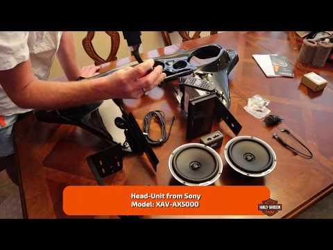 Harley-Davidson - Double DIN Dash Kit (2-DIN) With Sony XAV-AX5000