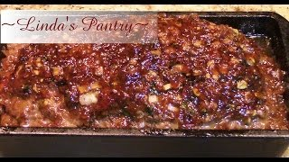 ~sweet Onion Jam Glazed Spicy Meatloaf With Linda's Pantry~