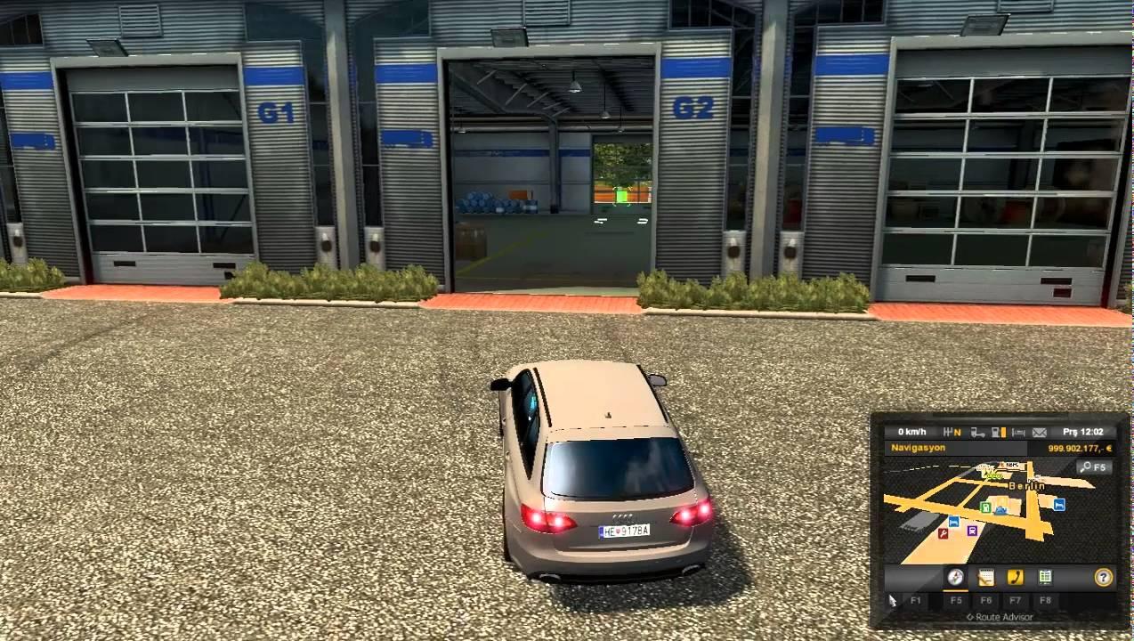euro truck simulator 2 - audi rs4 araba yaması - youtube