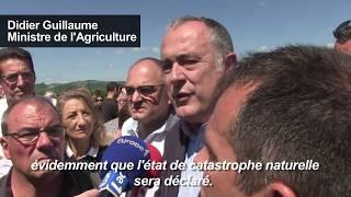 Orages dans la Drôme : le ministre de l'Agriculture sur place | AFP News