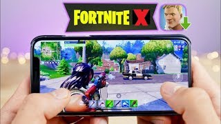 "Fortnite On IPHONE X Full Gameplay *NEW* 1080p - ""7 kills in 50v50 Came 1st Out Of 97"" Full Match HD"