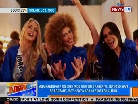 NTG: Mga kandidata ng 65th Miss Universe Pageant, may kanya-kanya ring kakulitan