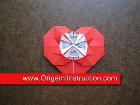 How to Fold Origami Heart Coin Holder - OrigamiInstruction ... - photo#14