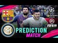 BARCELONA vs INTER MILAN | FIFA 19 UCL Predict Group Stage Matchday 3 | Broadcast Camera - 1080HD