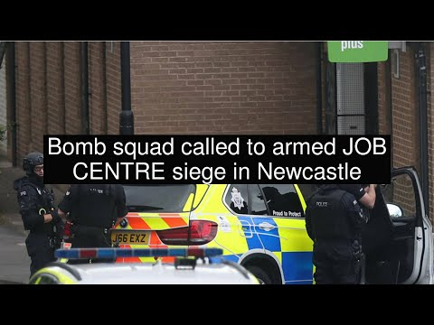 Bomb squad called to armed JOB CENTRE siege in Newcastle