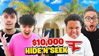 HIDE AND SEEK IN $5,000,000 MANSION WITH FAZE JARVIS AND FAZE KAY!! **WINNER GETS $10,000**