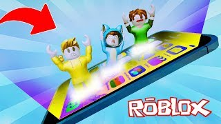 WE GET INSIDE A CELULAR PHONE!! OBBY ROBLOX 💙💚💛 BE BE BE MILO VITA AND ADRI 😍 AMIWITOS