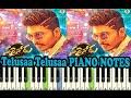 Telusaa (Sarainodu) piano notes - music sheet