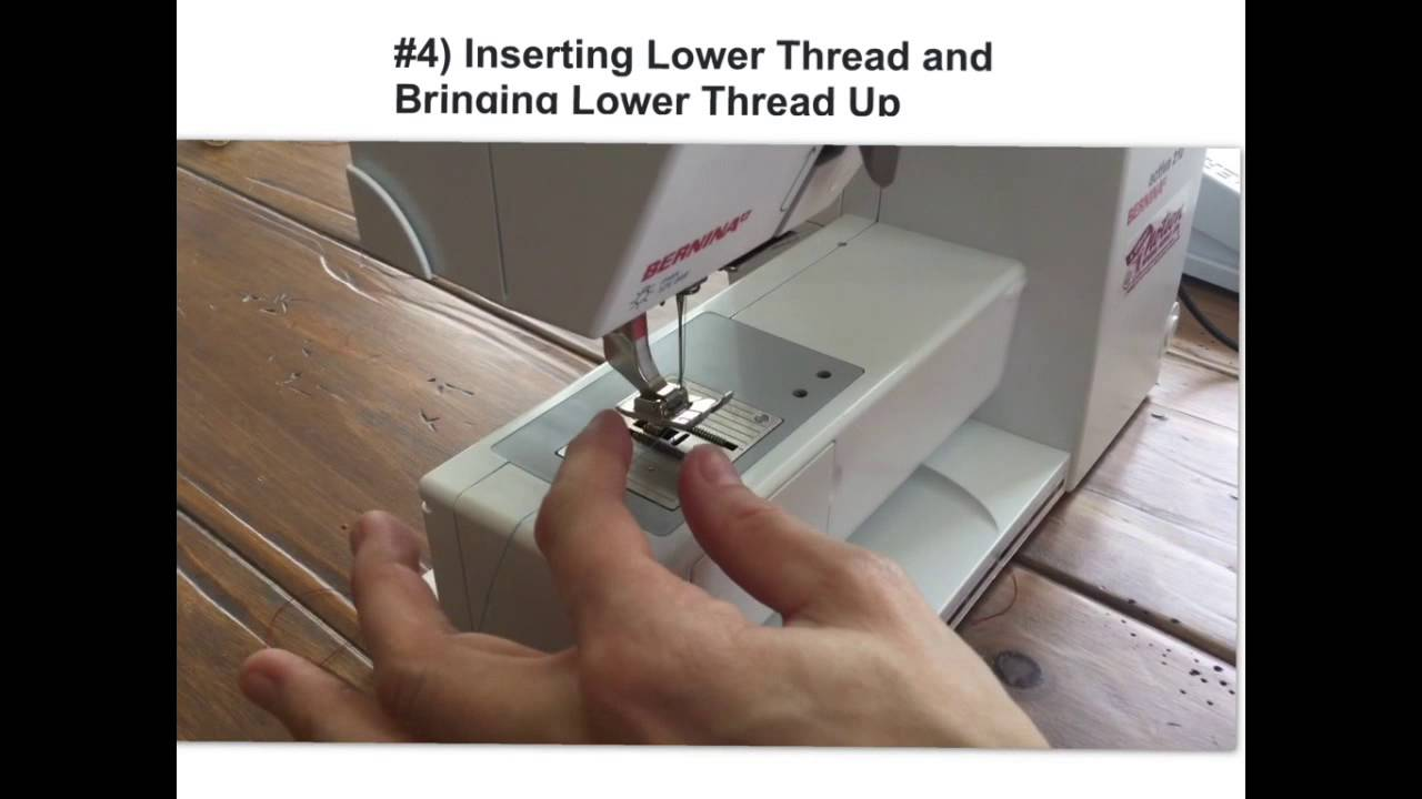 Bernina (Inserting Bobbin and Threading Lower Thread)