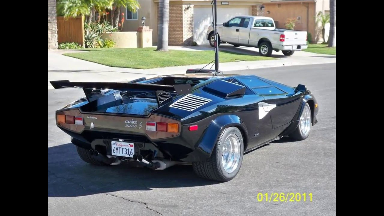 black lambo countach replica youtube. Black Bedroom Furniture Sets. Home Design Ideas