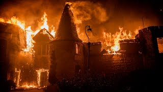 See winery go up in flames as Glass Fire burns along Napa Valley near St. Helena