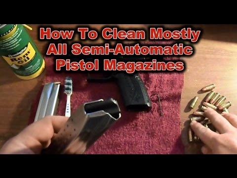How To Clean Most Pistol Magazines: Video Tutorial (HD)