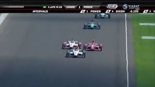 indianapolis 2015 amazing final laps power montoya battle for win