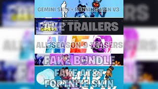 FORTNITE | ALL THREE TEASERS, GEMINI SKIN + RUNNING MAN V3, FAKE LEAKS AND FAKE TRAILERS!
