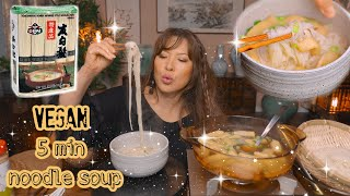 RECIPE • KOREAN NOODLE SOUP *SOMEN • Vegan Mukbang (비건 잔치국수)