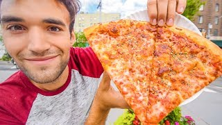 LIVING on DOLLAR PIZZA for 24 HOURS in NYC!