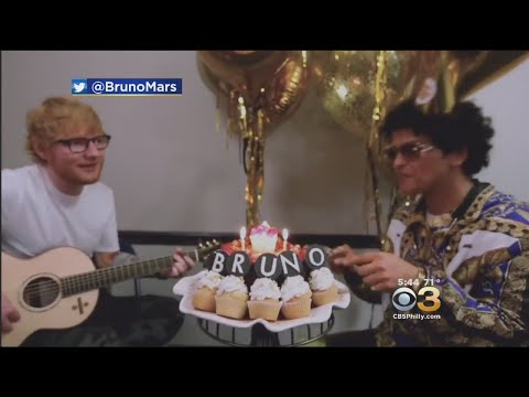 Ed Sheeran Sings Bruno Mars Happy Birthday