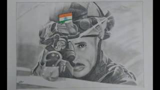 How To Draw Indian Army Man Sketch, Pencil Drawing, Pencil Shading, Drawing of Army man