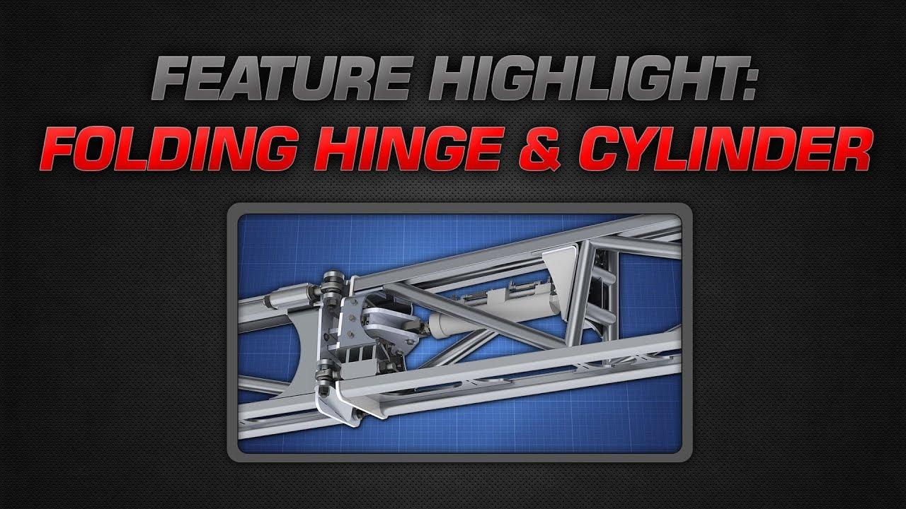 Millennium Boom Features - Folding Hinge & Cylinder