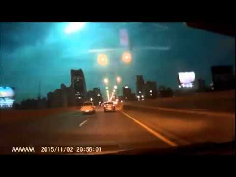 bolide caught by taxi camera