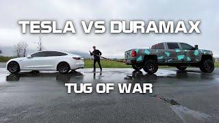 TESLA VS DURAMAX TUG OF WAR