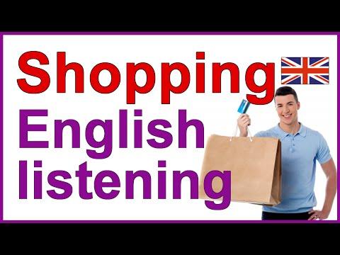 ENGLISH LISTENING EXERCISE - Going Shopping