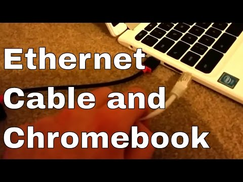 Connect Ethernet cable to Chromebook